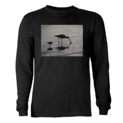 Beach birds on a dark t-shirt